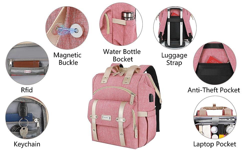 keychain Rfid Magnetic Water Bottle Bocket Luggage strap Anti-Theft Pocket Laptop pocket