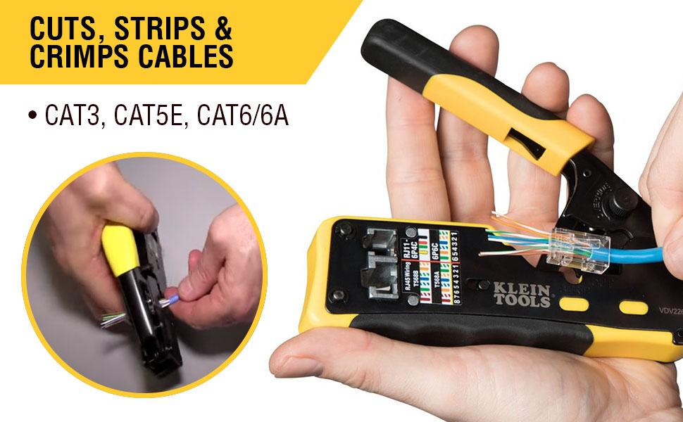 Cuts, Strips & Crimps Cables CAT3 CAT5e CAT6/6A