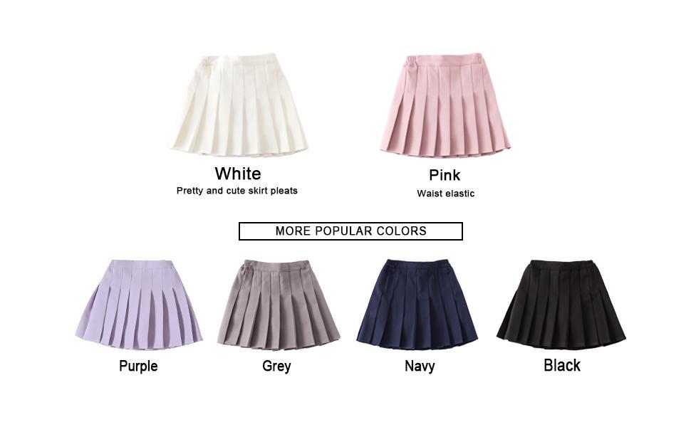 Little Big Girlsamp;#39; Kid Pleated Mini Short Skort School Dresses Tennis Scooters Skirts