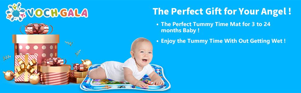 The perfect gift for your angel,baby can enjoy the tummy time with out getting wet