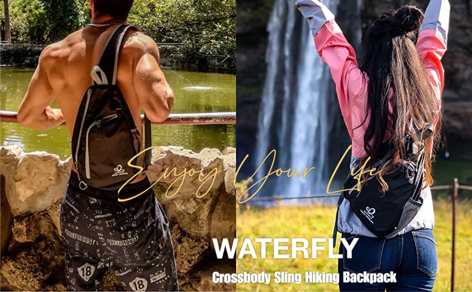 Waterfly Crossbody Sling Hiking Backpack