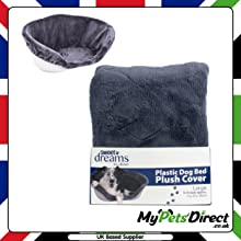 Grey Soft Cushion Plastic Dog Bed Cover