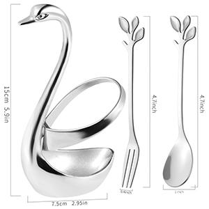 Silver swan base
