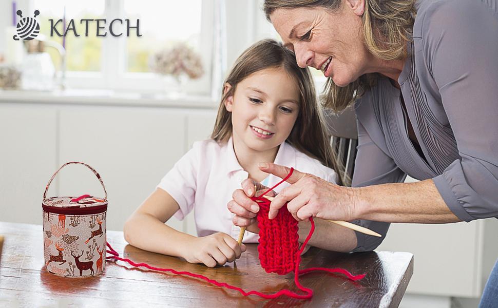 katech sac en laine a tricoter