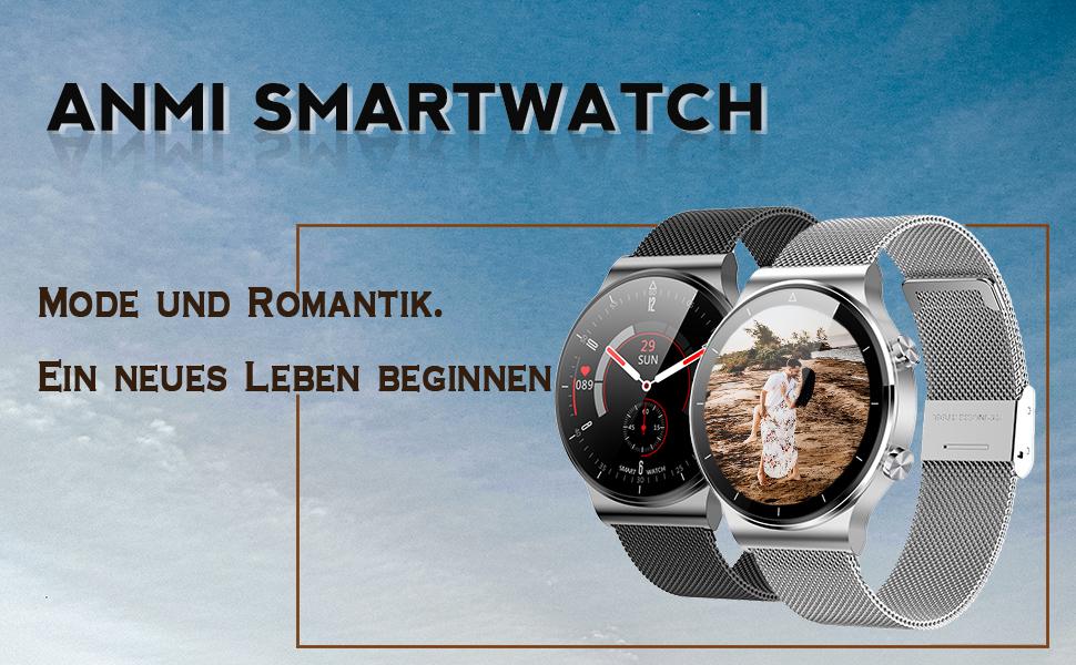Smartwatch Herren Damen, elegant und hochwertig