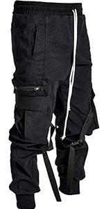 Street hip-hop sweatpants harem pants men's sports loose multi-pocket overalls