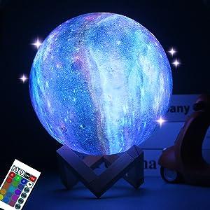 galaxy moon lamp for kids