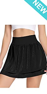 Pleated Tennis Skirts for Women with Pockets Shorts Athletic High Waisted Golf Skirt Running