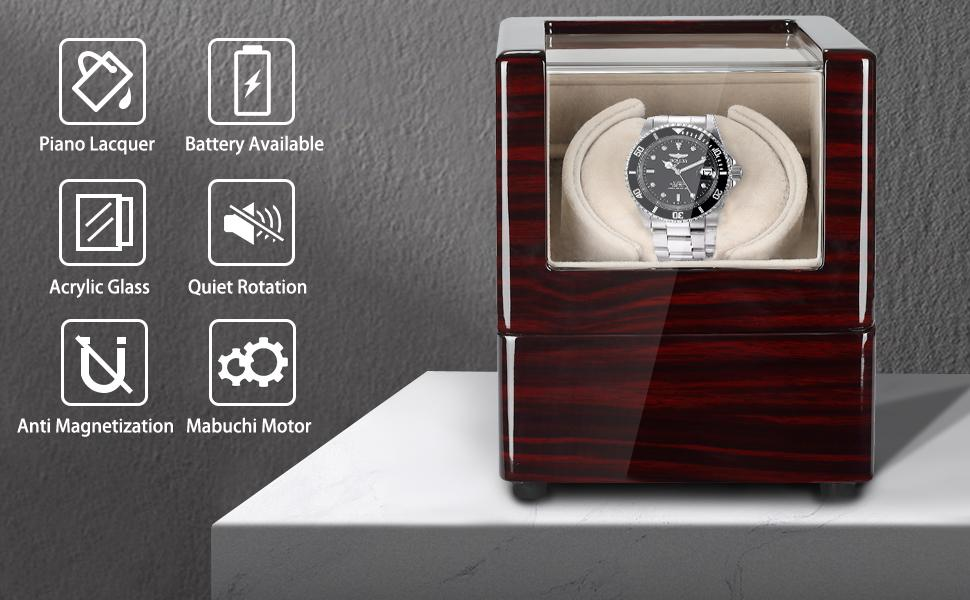 Spec: piano finish battery power source amp; adapter power source quiet acrylic glass