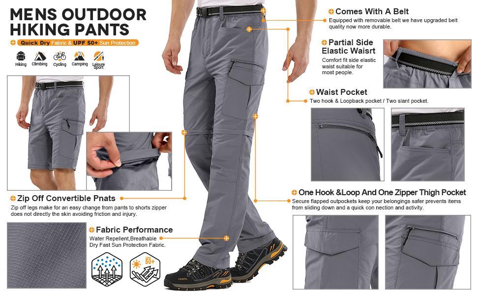 hiking pants mens fishing pants 50 upf mens pants mens pants shorts combo scout pants youth zip off
