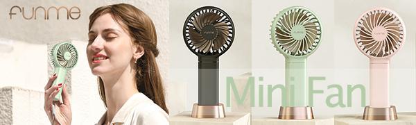 funme mini handheld fan women cooling fan personal travel fan