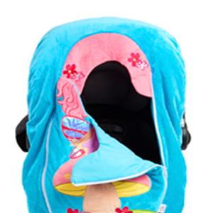 car seat cuties, car seat cover, baby, infant, costume, plush, character, travel, gift, soft