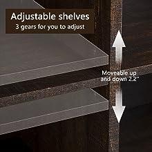 Adjustable shelve
