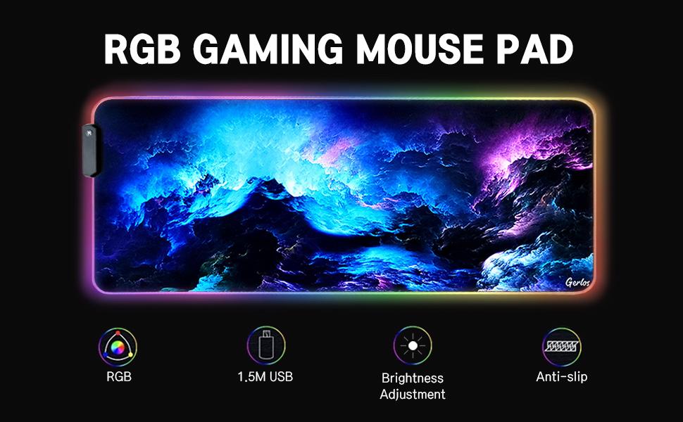 gaming mouse pad large rgb mousepad big mouse pad gaming gaming desk pad led mousepad