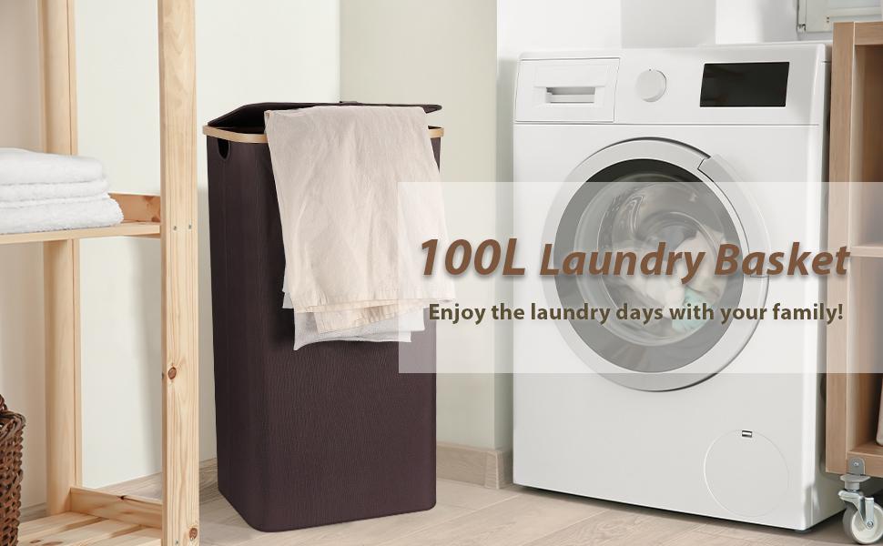 100L laundry basket