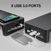 dual monitor stand 8 USB
