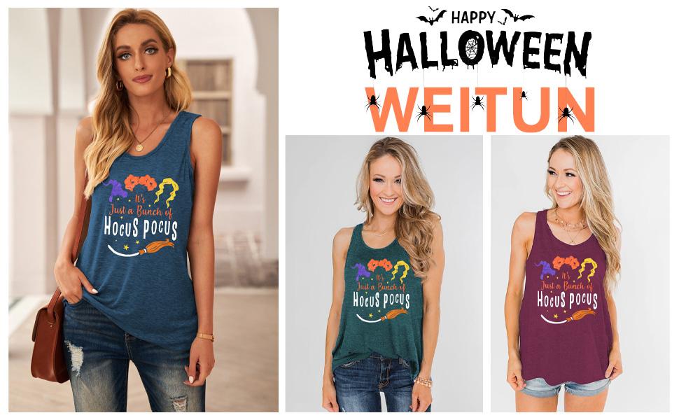 Hocus Pocus Halloween Tank Tops for Women