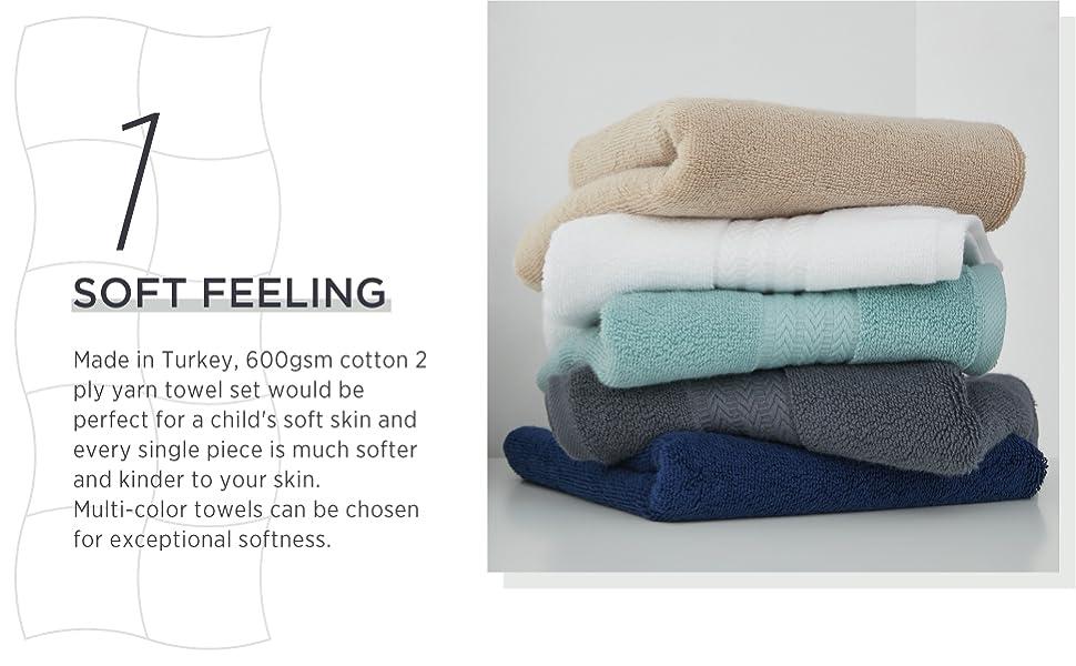turkish cotton bath towel set