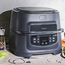 Crux air fryer grill 9 quart pot basket less oil digital screen led