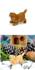 Fairy garden outdoor supplies indoor mini miniature accessories tools supply cute small puppy dog