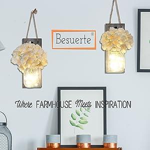 besuerte mason jar wall sconces with led fairy lights,besuerte mason jar wall sconces