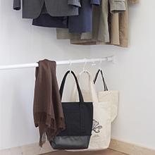 デッドスペース 活用 収納追加 クローゼット バッグ