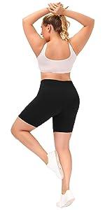 biker shorts for women plus size