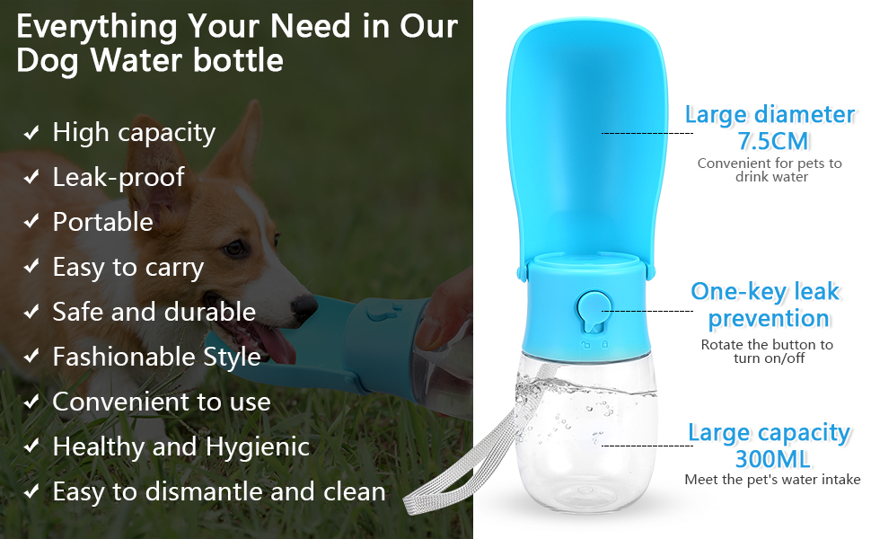 water bottle for dogs dog travel water bottle pet water bottle dog water bottles for walking