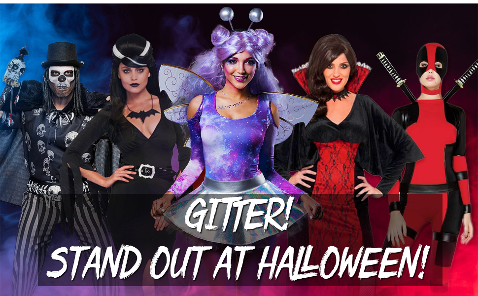 Glitter Stand Out at Halloween
