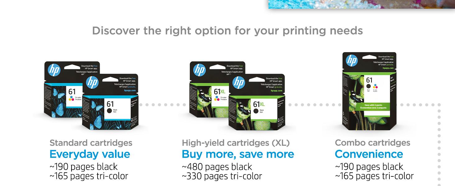 original hp 61 ink standard high-yield multipack cartridges Instant Ink value