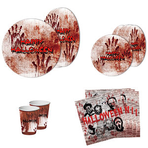 Bloody Halloween Plates Napkins Cups