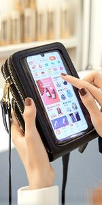 Bolso de Teléfono Móvil con Pantalla Táctil para Mujer