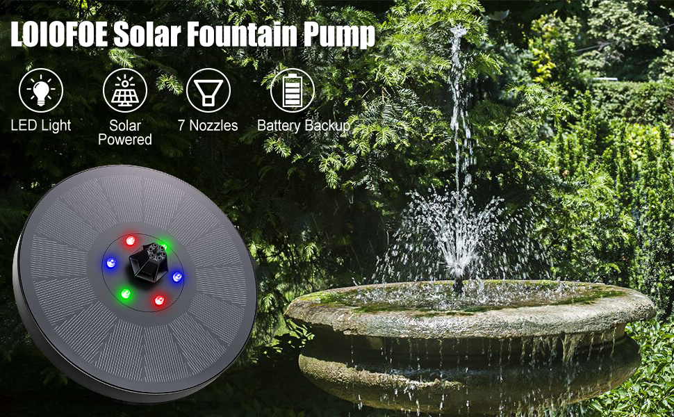 Battery Backup Floating Fountain