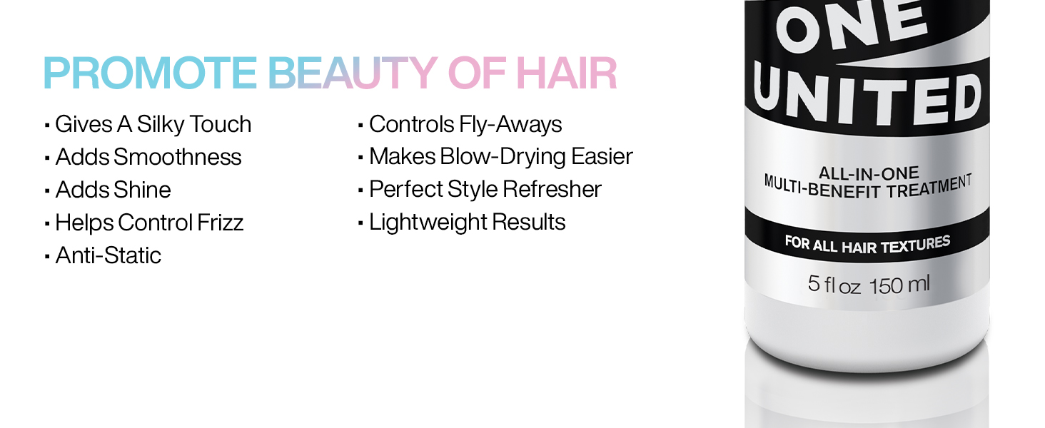 Redken one united, hair treatment, multi benefit hair treatment, hair spray, leave-in treatment