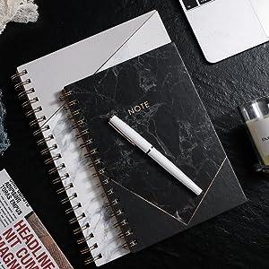 Black Spiral Notebook