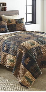 Brown Bear, Donna Sharp, Bedding, Quilted Bedding, Twin, King, Queen, Full, Bear Pattern