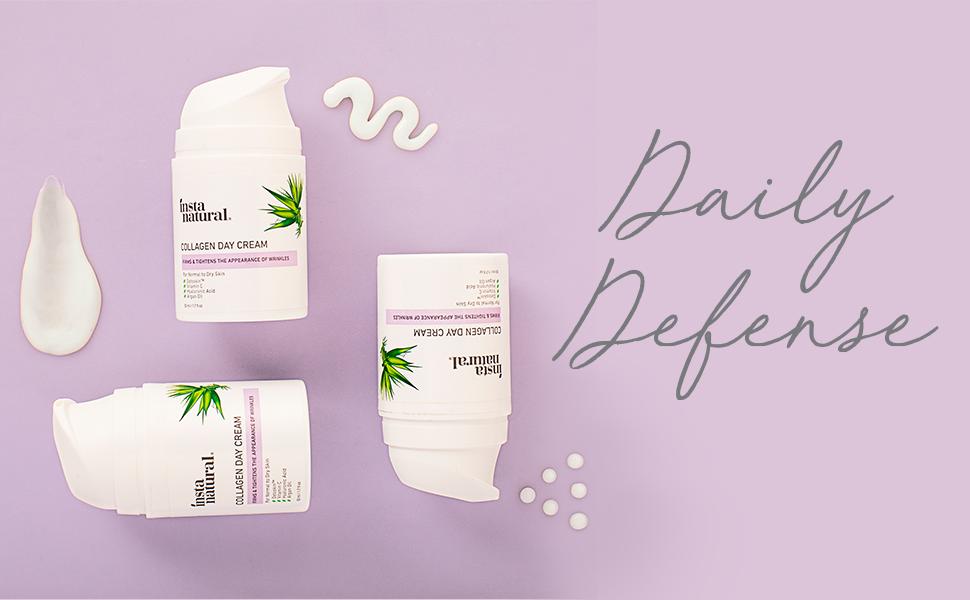 collagen day cream, daily defense