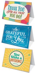 Appreciation Kudos Cards with Envelopes