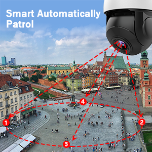 5mp outdoor  ptz camera support preset cruise points,time and speed-patrol around your custom path