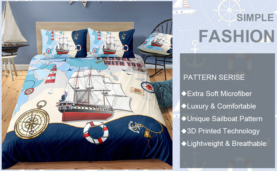 pirate ship bedding set