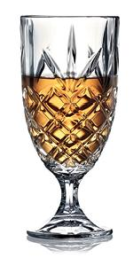 Royalty Art Kinsley Lowball Whiskey Glasses Set, 8 Long-Stem Tumbler,