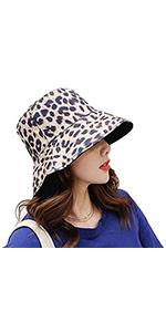 leopard print fisherman hat