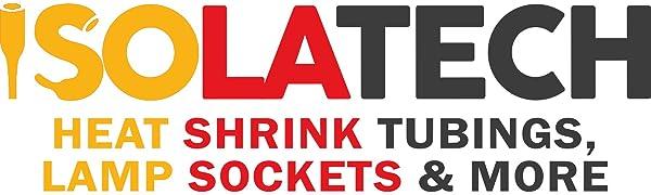 ISOLATECH Heat Shrink Tubings, Lampsockets & More | Krympslangar, lamputtag och mer