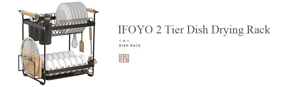IFOYO 2 Tier Dish Drying Rack