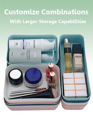 drawer organizer for office bathroom vanity desk kitchen pink 20 pcs