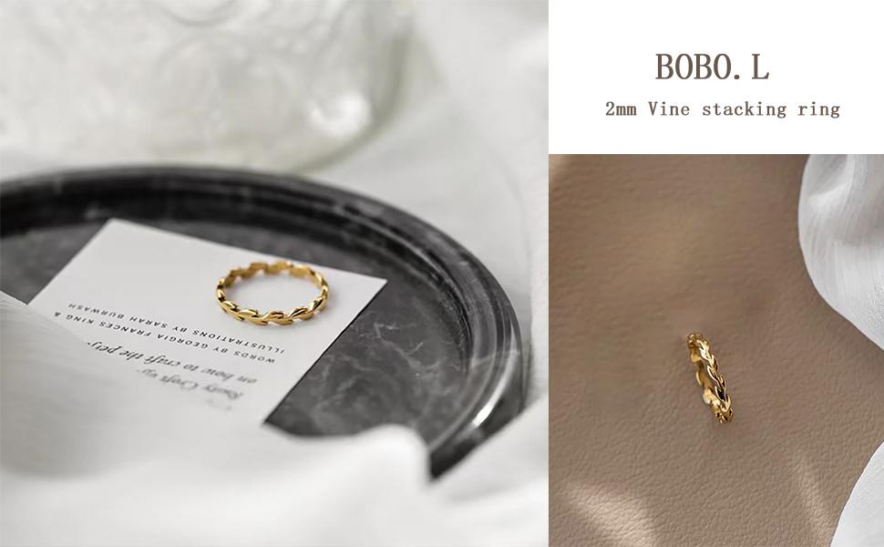 Vine gold filled ring