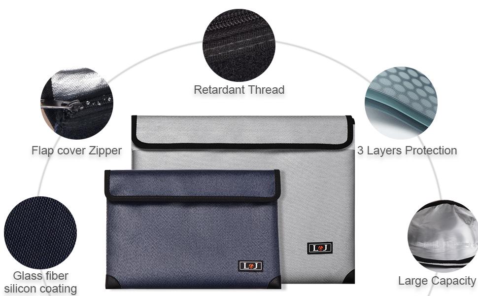 Fireproof Document Bag,Fireproof Money Bag,waterproof,fireproof