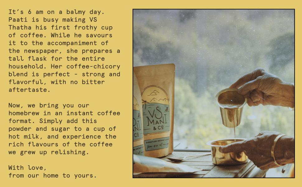 VS Mani Signature Instant Coffee Product Description