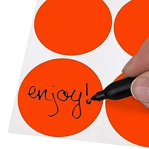 writing, dots, stickers, organization