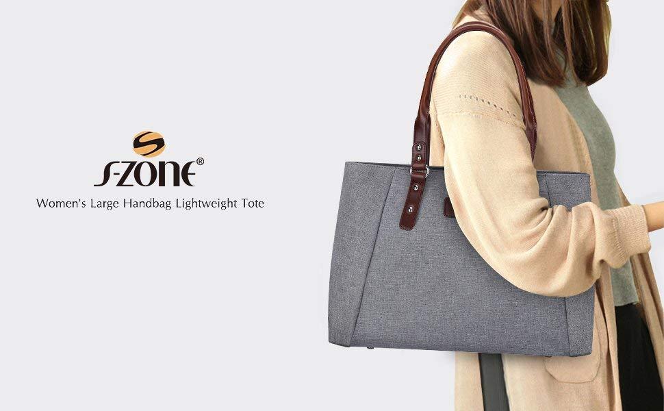 S-ZONE Large Handbag Tote Bag